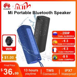 Caixa de som portátil Xiaomi Mi Speaker com 16W TWS, IPX7 | R$236