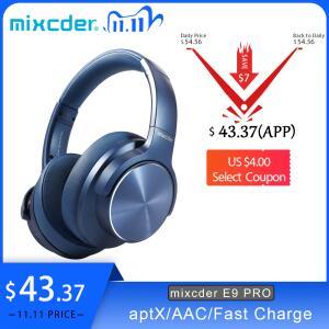 Fone de Ouvido sem fio Mixcder E9 Pro com aptX, cancelamento ativo de ruído | R$254