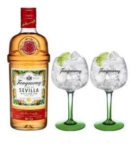 Gin Tanqueray Sevilla + 2 Taças Tanqueray | R$180