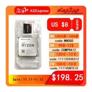 Processador Ryzen AMD 6 Core 5 3600 R5 3600 3.6GHz CPU doze threads 7NM 65W   R$1.057