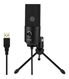 Microfone Condensador Fifine K669   R$195