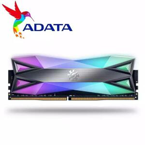 Memória RAM 2x8 3200 adata RGB D60 | R$476