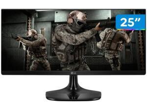 "Monitor Gamer LG 25UM58G-P.AWZ 25"" LED IPS - Full HD HDMI 75Hz 1ms | R$ 906"