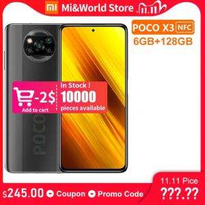 Smartphone POCO X3 NFC 128gb/6gb RAM | R$1.251