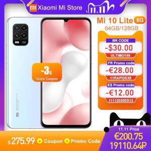 Smartphone Xiaomi Mi 10 Lite 5G 128GB + 6GB | R$ 1638