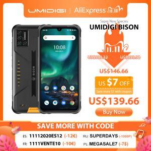 Smartphone Umidigi Bison IP68 6GB+128GB NFC   R$759