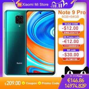 Smartphone Xiaomi Redmi Note 9 Pro NFC 6GB RAM + 64GB | R$1.146