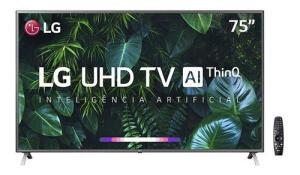 "Smart Tv Led 75"" LG Un8000psb 4k Bluetooth Hdr | R$4999"