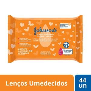 Lenços umedecidos Johnsons Baby Limpeza e Suavidade 44 unidades | R$4,99