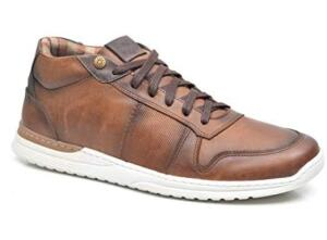 Sapato Casual Cano Alto em Couro Tokyo, Fork, Masculino de R$ 197,00 por R$75,00