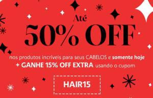 ATÉ 50%OFF + 15%OFF (CUPOM) | Sephora