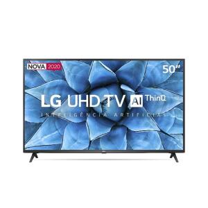 "Smart TV 50"" LG 50UN7310 UHD 4K Wifi Bluetooth Hdr Inteligência Artificial Thinq Ai"