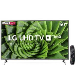 "Smart TV LED 50"" UHD 4K LG 50UN8000PSD | R$ 2098"