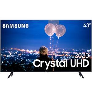 "Smart TV LED 43"" UHD 4K Samsung 43TU7000 Crystal UHD, HDR - R$1999"