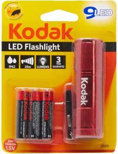 Lanterna 9-LED + 3 Pilhas AAA Palito Comum, Kodak 30412460 | R$11
