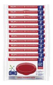 Kit Com 12 Lenços Umedecidos Desinfetante Omo | R$121