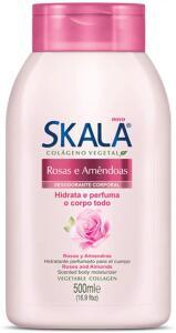 Loção Corporal Hidratante, SKALA, Rosas Amêndoas Unit, 500 ml | R$4