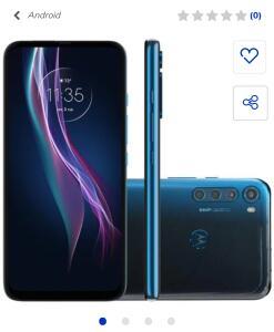 "Smartphone Motorola One Fusion+ Tela 6,5"" 128GB 4GB RAM | R$1590"