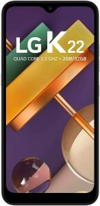 Smartphone LG K22 , 2GB/32GB, Tela de 6, Câmera Dupla 13Mp+2Mp, Selfie de 5Mp, Processador Qualcomm QM215 R$749