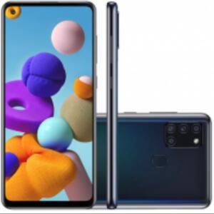 [Plano Claro -$200] Samsung Galaxy A21S 64GB 4GB RAM Tela 6.5' Android 10 Octa Core Preto - R$1115