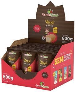 Caixa Minibolo de Maçã com Canela sem Glúten e sem Lactose - Grani Amici 600G - Display 15 Unidades R$23