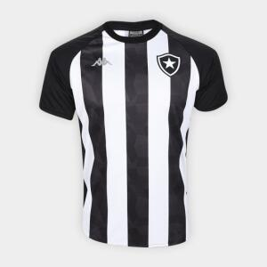 Camisa Botafogo Stripe Supporter 19/20 Kappa Masculina - Branco e Preto - R$50