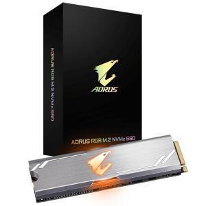 SSD Gigabyte Aorus RGB 256GB, M.2 NVMe, Leituras: 3100MB/s e Gravações: 1050MB/s - R$430