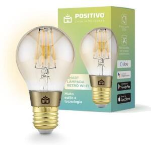 Smart Lâmpada Positivo Retrô Vintage Wi - Fi Ambar   R$113