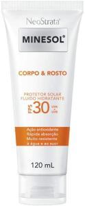 [Prime] Neostrata Minesol Corpo & Rosto Protetor Solar Fluido Hidratante Fps 30 120 Ml | R$39