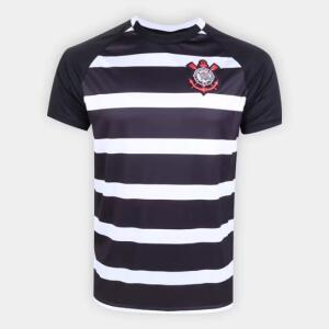 Camisa Corinthians SPR 2015 s/n° Masculina - Preto e Branco - R$50
