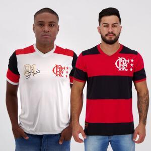 Kit de 2 Camisas Flamengo Retrô | R$ 198