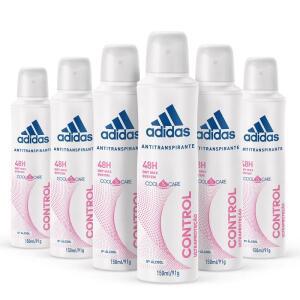 [6 un.] Kit Desodorante Aerossol Adidas Feminino Cool & Care Control - 150mL | R$45