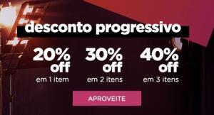 Desconto progressivo 1=20% 2=30% 3=40%