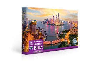 [AME] Quebra Cabeça Puzzle 1500 Peças Luzes de Xangai | R$ 46