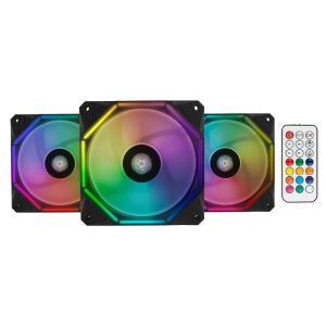 KIT VENTOINHAS PICHAU GAMING WAVE RGB 3X120MM + CONTROLADORA, PGW120-RGB-KIT - R$130