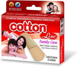 (PRIME) Curativo Antisséptico Bege Com35 Unid., Cotton Line | R$ 3