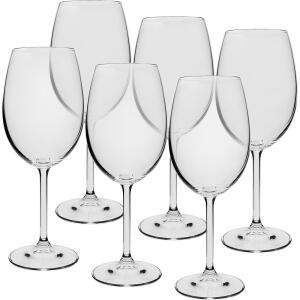 [R$57 AME] Jogo de 6 Taças Cristal Bohemia para Vinho Tinto 450ml | R$ 64