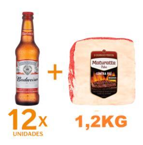 Kit 12 Cervejas Budweiser 330ml + Contrafilé Maturatta 1,2kg | R$73
