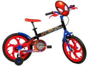 Bicicleta Infantil Aro 16 Caloi A20 Spider-Man   R$475