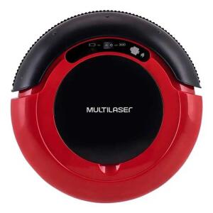 Aspirador de Pó Multilaser Robô 3 em 1 Vermelho e Preto Bivolt | R$379