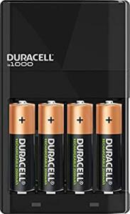 [PRIME] Duracell, carregador de pilhas com 4 pilhas AA