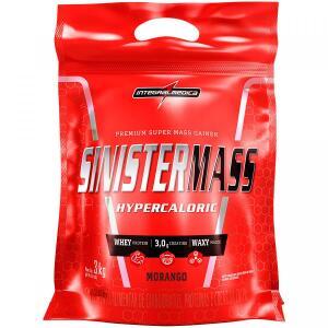 Sinister Mass Hipercaloric Integralmédica - Morango - 3Kg | R$38