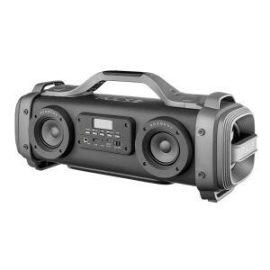 Caixa de Som Portátil Multilaser Pulse Mega Boombox SP363 com Bluetooth 440w | R$599