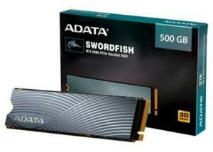 SSD Adata Swordfish, 500GB, M.2 PCIe, Leituras: 1800MB/s e Gravações: 1200MB/s   R$490