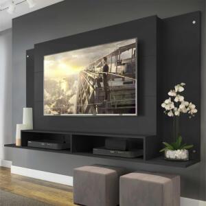 Painel Tókio Multimóveis para TV de até 60 Polegadas com Nicho - Preto| R$ 230