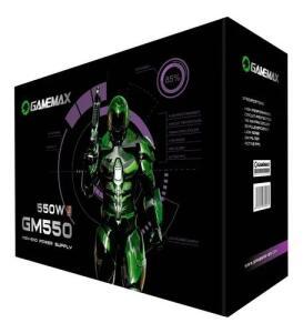 Fonte De Alimentacao Preta 550w Gamemax Gm550 80 Plus Bronze
