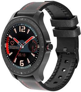 "Smartwatch BlitzWolf BW-HL2, Tela 1.3"" - Couro Preto   R$298"