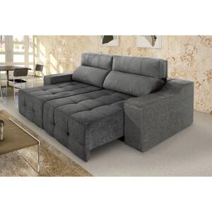 [AME + CC Shoptime] Sofá 3 Lugares Retrátil e Reclinável Connect Plus - Rifletti | R$1420