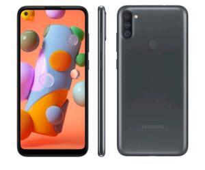 "[APP + Cliente OURO] Smartphone Samsung Galaxy A11 64GB Preto 4G - Octa-Core 3GB RAM 6,4"" Câm. Tripla + Selfie 8MP"
