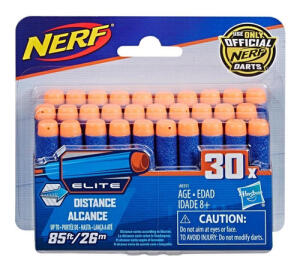 Dardos Elite, Nerf, Pack com 30 | R$25